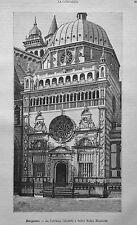 1891=BERGAMO.CAPPELLA COLLEONI - S.MARIA MAGGIORE=Xilo+Passepartout.Etna.Premoli