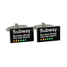 New York Subway Brooklyn Bridge Cufflinks Cuff Links