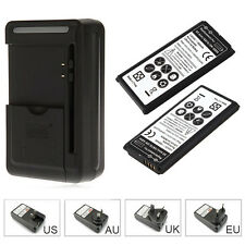 2x 1800mAh Replacement Battery + Wall Charger For Samsung S5 mini G870 SM-G800