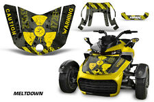AMR Racing CanAm F3-S Spyder Hood Graphic Kit Wrap Roadster Sticker Decal MD YLW