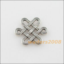 18 New Charms Tibetan Silver Chinese Knot Pendants DIY Connectors 14x16mm