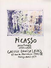 """1989 VINTAGE """"PEINTURES"""" GALERIE LEIRIS PICASSO MOURLOT Color offset Lithograph"""