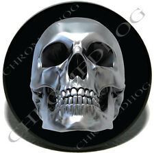 "Chrome Skull 1 - 2"" Tow Hitch Receiver Cover Insert Plug for Most Truck & SUV"