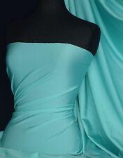 Aqua blue 4 way stretch brillant lycra matériel Q54 AQ