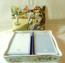 Wedgwood Fragola selvatica Wimbledon Estate Carta da gioco BOX +2 Carte Pks England