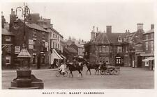 Market Place Market Harborough RP pc used 1921 Boots