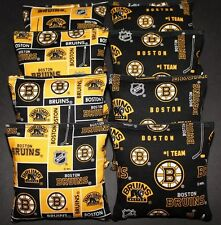 CORNHOLE BAGS made w BOSTON BRUINS Fabric ACA Regulation Bags NHL Fans