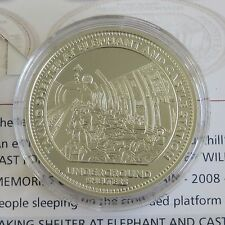 MEMORIES OF WARTIME BRITAIN 38mm HM SILVER PROOF MEDAL - UNDERGROUND - coa