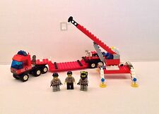 Lego City Town Fire Fighter Lift Truck 6477 Complete W Minifigs & Manual, No Box