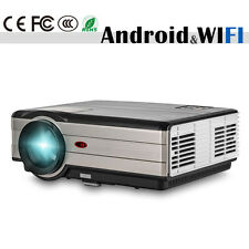 Android WiFi LED LCD Home Cinema Projector TV Movie HDMI USB VGA Full HD 1080P