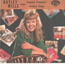 HALEY MILLS--PICTURE SLEEVE + 45--(JEEPERS CREEPERS)--PS--PIC--SLV