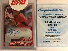 2014 Topps Chrome  Billy Hamilton '89 Refractor on Card Auto #21/25 Reds