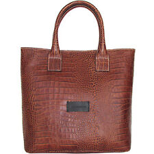 Pierre Balmain shopper tote bag handbag crocodile print leather tasche $470