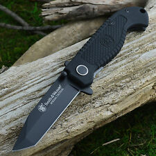 Smith & Wesson Special Tactical Black Plain Edge Tanto Linerlock Knife CKTACB