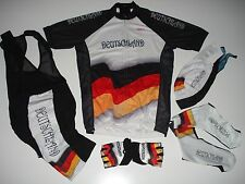 New size L - GERMANY DEUTSCHLAND Team Cycling Flag Bike Set Jersey Bib Shorts +