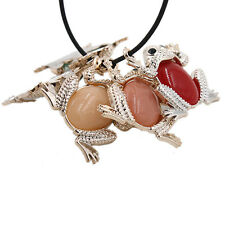 10x New Mixed Color Acrylic Frog Rhinestone Shape Pendants Charms Fit Necklace L