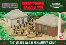Battlefield in a Box Flames of War BNIB Island Huts BB196