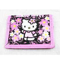 NWT Hello Kitty by Sanrio Trifold Wallet Black Pink Newest Paisley Style