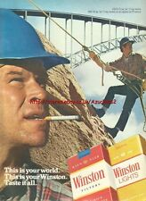 """Winston Cigarette """"This Is Your World"""" 1980 Mag. Advert #3591"""