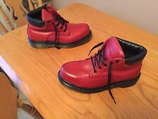 Vintage Dr Martens 7751 Red leather boots UK 5 EU 38 ENGLAND kawaii punk walking