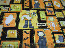 3 Yards Quilt Cotton Fabric - Windham Jeepers Creepers Halloween Monster Patch