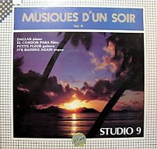STUDIO 9 musiques d'un soir 4 LP 1983 SCORE dallas/it's raining again RARE VG++