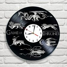 Game of Thrones Logo design vinyl record clock home wall art club shop move game