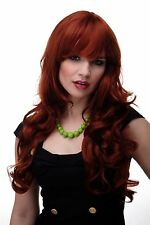 Wig Red Copper red Wavy Long Fringe smooth 285-350 65cm