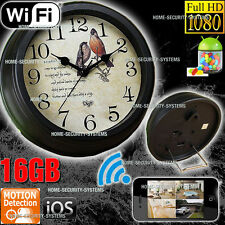 IP Camera Wireless Home Security System WIFI Room Clock cam 1080P No Spy Hidden