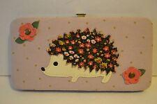 Porcupine Floral Hardcase Wallet Canvas Credit Card Cash Holder - NWT