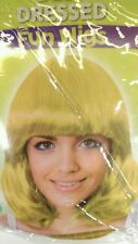 FANCY DRESS YELLOW LONG BOB STYLE WIG STAG/HEN PARTY NEW