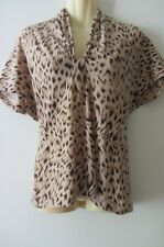 MAX MARA wool top,animal print, size XL, AUS 10-12 NWOT