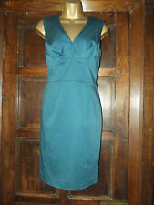 BNWT EX-WAREHOUSE DRESSY/BUSINESS BODYCON FITTED TEAL SLEEVELESS DRESS SZ 12