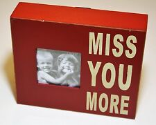"Attraction Design Home Miss You More Wood Chunky Frame 5.5""H x 6.5""L x 1.5""W NWT"