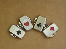 Lot of 4 Playing card series lighters - Vintage, Camel, Butane