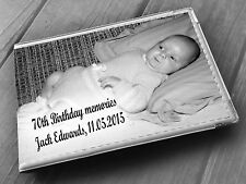 """Personalised guestbook photo album 36 x 6x4"""" 70th Birthday memory gift"""