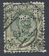 1926 REGNO USATO FLOREALE 25 CENT PERFIN - RR12969