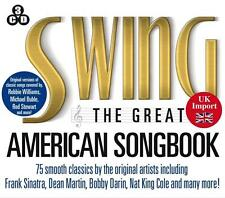 Swing The Great American Songbook - Sinatra- Deam Martin - Nat King Cole - 3 CDs