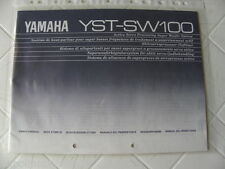 Yamaha YST-SW100  Owner's Manual  Operating Instruction   New
