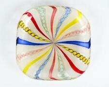 1940s/50s Venetian Murano Art Glass Gold Stone Filigrana Multicolor Canne Bowl