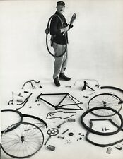 1955 Vintage JACQUES TATI Filmmaker Bicycle France Art 16x20 By ROBERT DOISNEAU