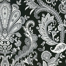 "12""/31cm Wallpaper SAMPLE Fabulous Gray, Silver & White Paisley"