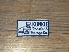 trucking  patch,KUNKLE transfer and storage company , new old stock, 60's