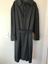 Vintage Burberry's Mens Overcoat Wool Camel Twill Lined Size 43 Dress Coat Trenc