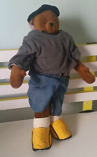 MT LITTLE ANN TEDDY BEAR DRESSED LIKE A GANGSTA NICE THREADS SHOES BAGGY PANTS