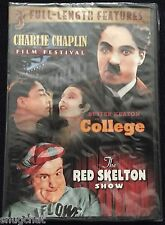 3 Full Length Features ~ Charlie Chaplin ~ Buster Keaton ~ The Red Skelton Show