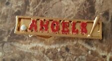 VINTAGE LOS ANGELES ANGELS TIE CLIP, NEW OLD STOCK