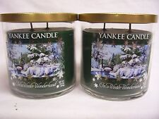 Yankee Candle (2) IN A WINTER WONDERLAND Two Wick Medium Tumbler Jar Candle x 2