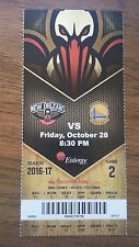 KEVIN DURANT GOLDEN STATE WARRIORS 1ST WIN PELICANS AD 45 PT 10/28 UNUSED TICKET