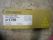 New Genuine Ricoh SP C730 High Yield Yellow Toner Cartridge 407844 9,300 pages